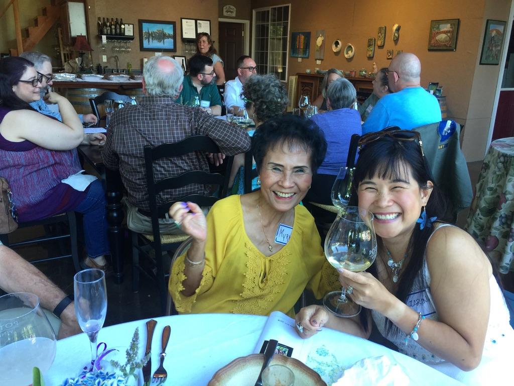 Guests enjoying tasting
