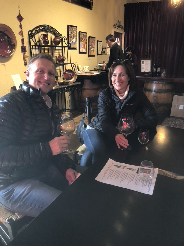 Guests enjoying tasting at bar